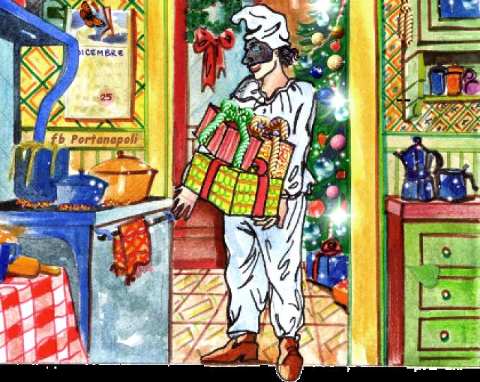 Pulcinella hat sein Geschenk schon verpackt (© Francesca Buommino - Portanapoli.com)