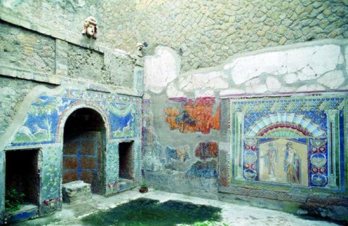 Die Wandmalereien in den Häusern von Herculaneum sind gut erhalten (© Vito Arcomano - Fototeca ENIT)