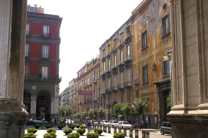 Die Quadreria di Girolamini (ganz rechts) ist im Palazzo Seripando (© Umberto - Portanapoli.com)